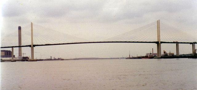 The Q.E.II bridge from the river