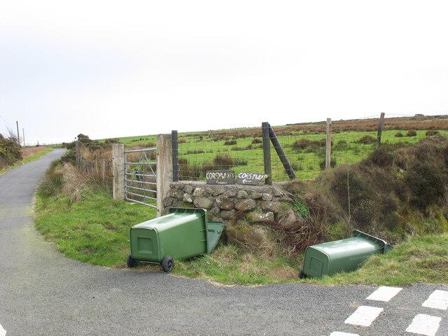 Fallen wheelies at Cors-y-wlad junction