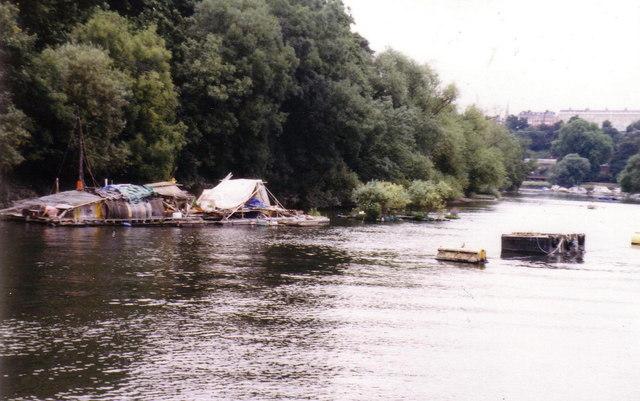 Floating 'bender' on the Thames at Twickenham