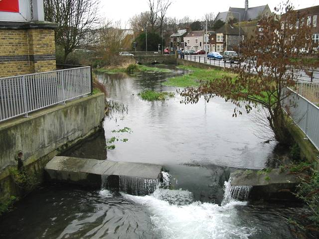 Small weir on the River Dour