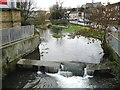 TR3142 : Small weir on the River Dour by Nick Smith