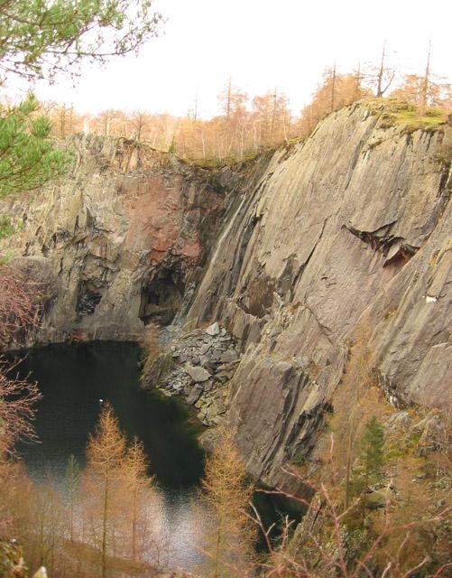 Hodge Close quarry: view north east