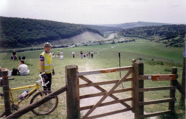 Path up Butser Hill