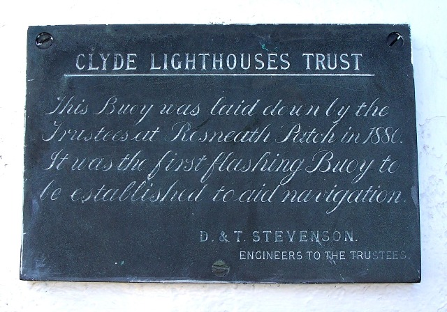 Plaque on buoy