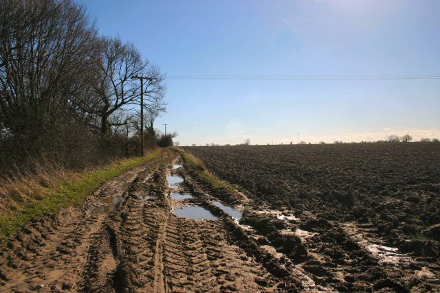 Muddy track near North Lopham