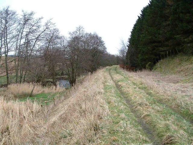 Rail embankment beside River Eden