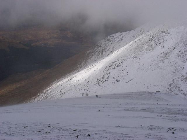 Descending from Stob Binnein