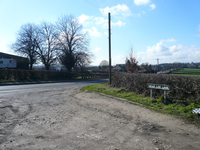 Owler Car Lane Junction with B6056