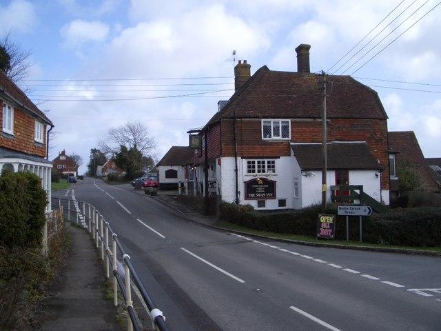 The Swan Inn at Wood's Corner Looking East
