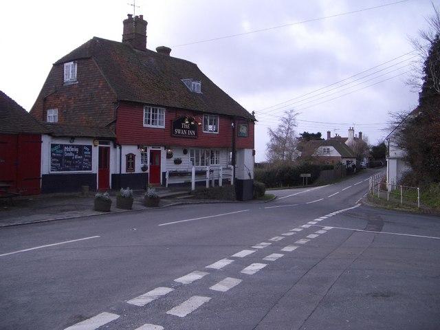 The Swan Inn at Wood's Corner Looking West