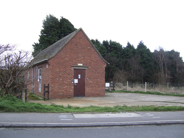 Telephone exchange by the A415 at Clifton Hampden