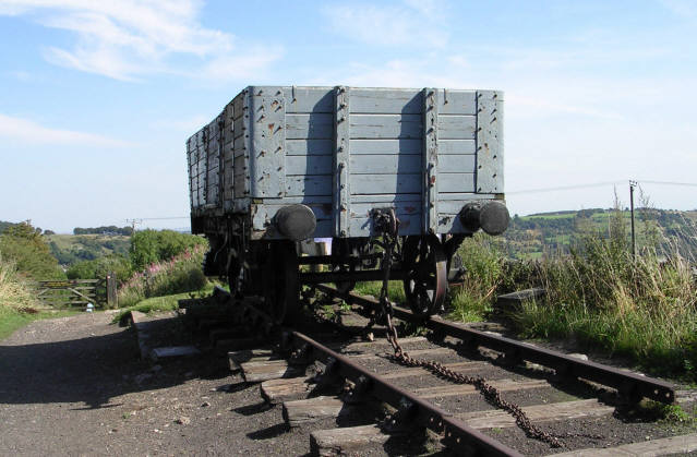 Middleton Top - Wagon at top of inclined plane