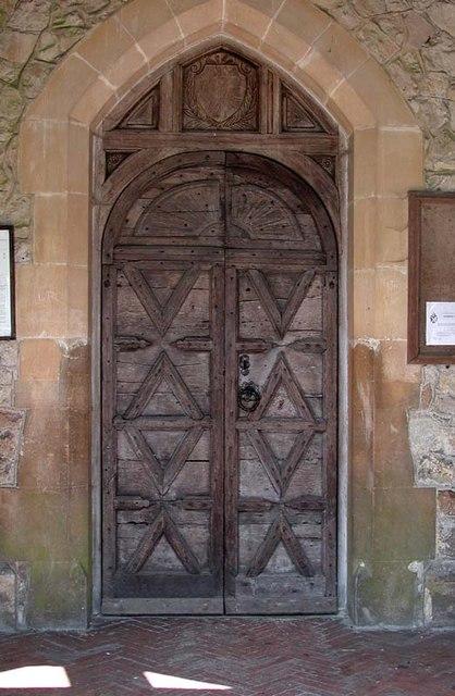 St Andrew, Little Berkhamsted, Herts - Doorway