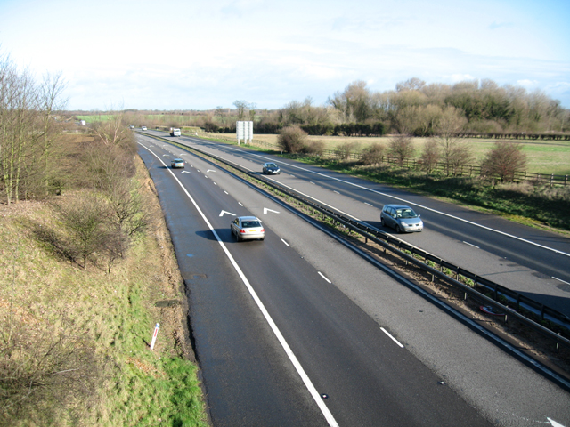 The M11 from Newton Road bridge, Whittlesford, Cambs