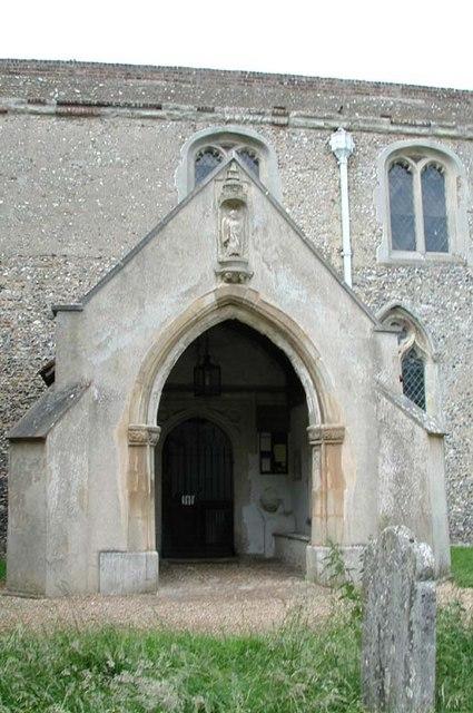 St Peter, Benington, Herts - Porch