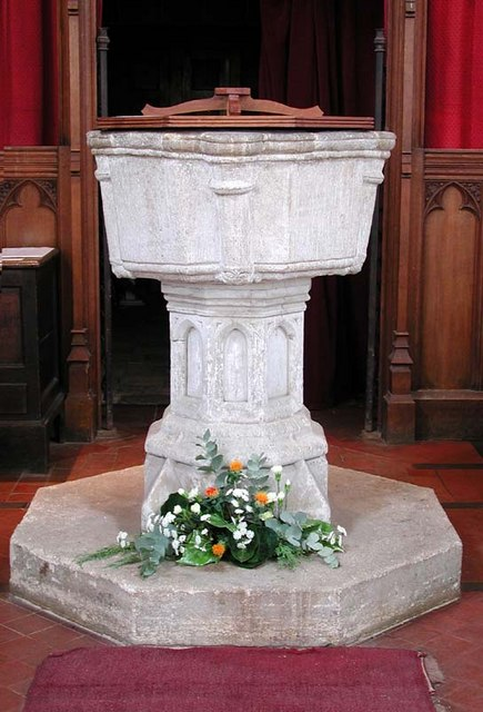St Peter, Benington, Herts - Font