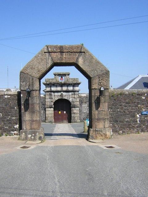 The entrance to Dartmoor Prison