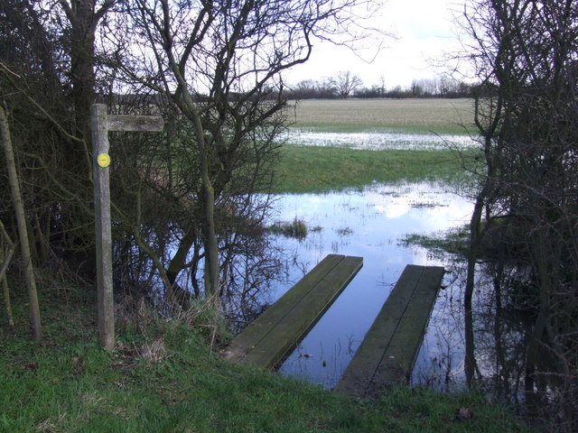Flooded Footpath (Boudica's Way)