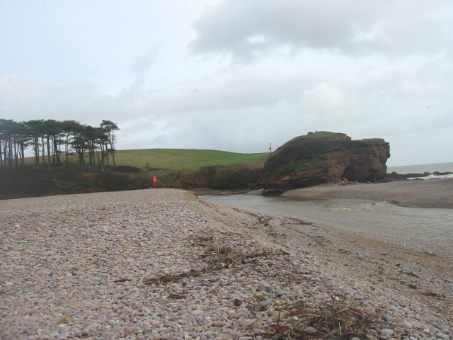 Mouth of River Otter and beach