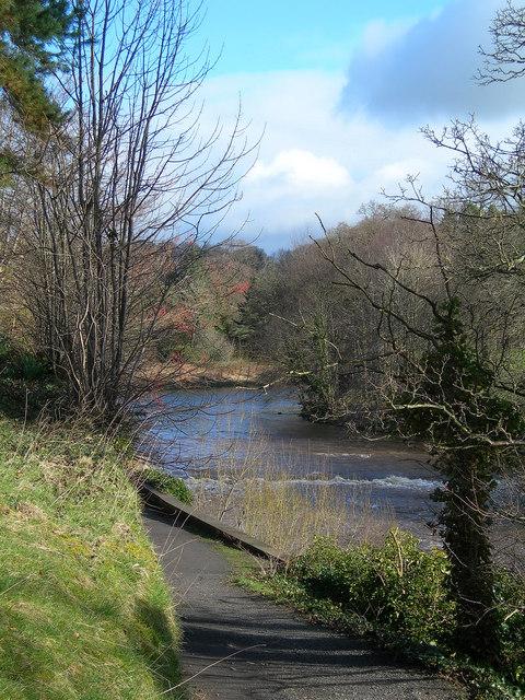 River Ayr at Auchincruive