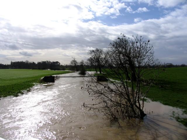 River Wreake after heavy rain, Thrussington