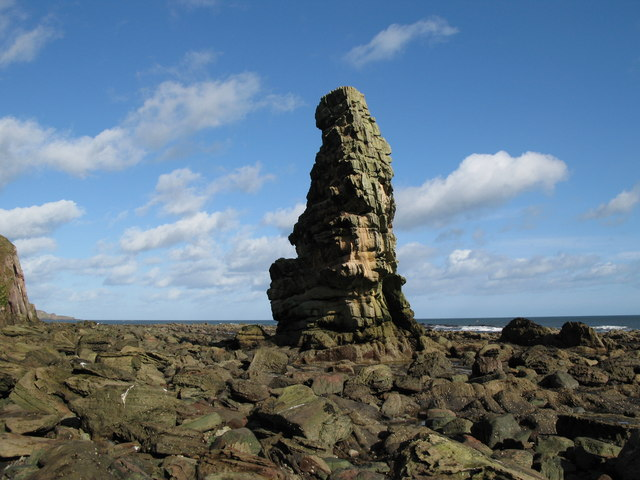Maiden's Stone, near Ross Point, Burnmouth