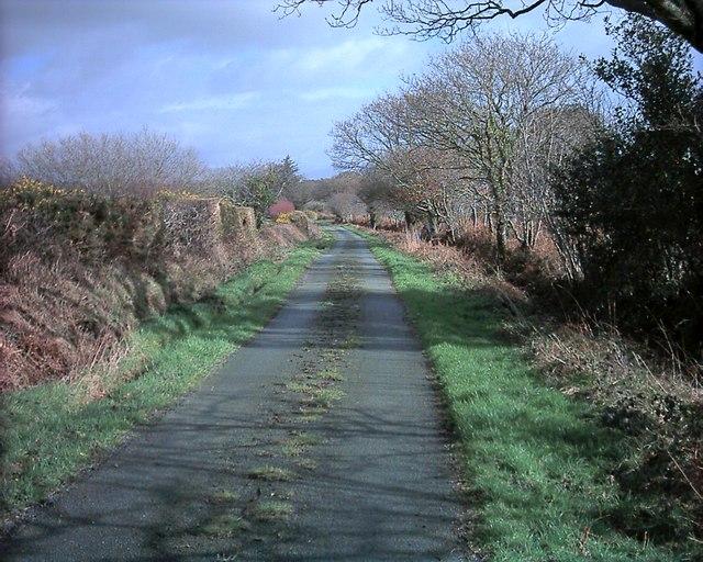 Lane from Penarth Fawr to Penarth Bach