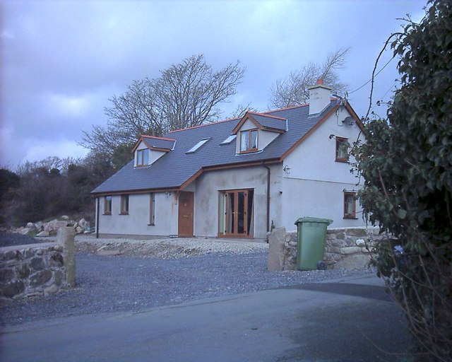 New house in field in Chwilog