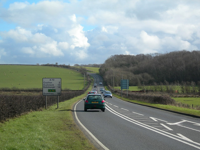 The A70 at Belston
