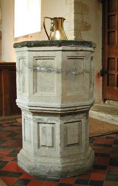 St Mary, Meesden, Herts - Font