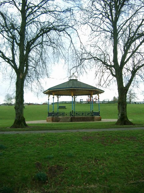 Strathaven Park and the bandstand