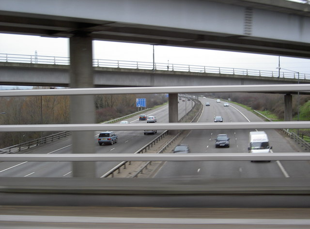 M25 clockwise at junction 15