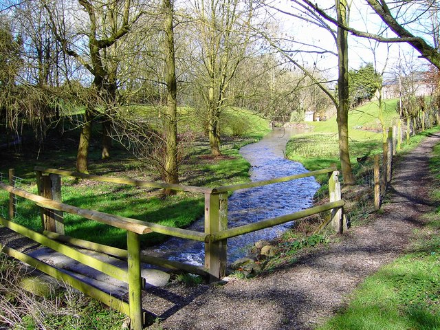 Stream north of the pond, Bishopstone, Swindon