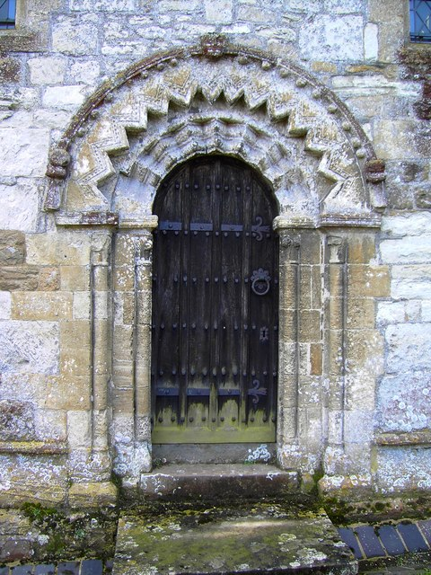 Norman doorway, St Mary the Virgin, Bishopstone, Swindon