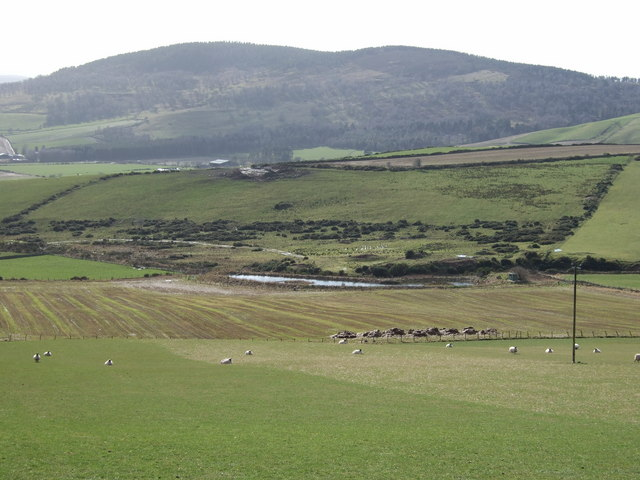 View from south slope of Blelack Hill