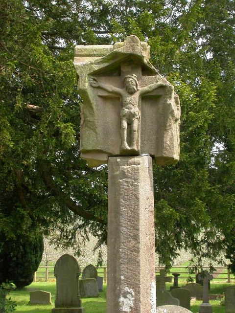 Medieval Plague Cross in Putley Churchyard