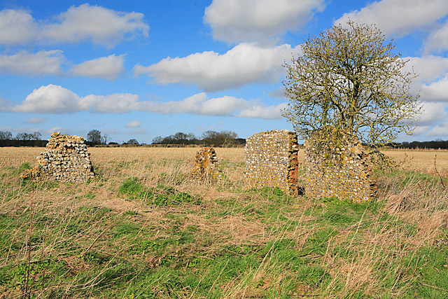 Site of Roman Villa on Wood Farm, nr Bramdean