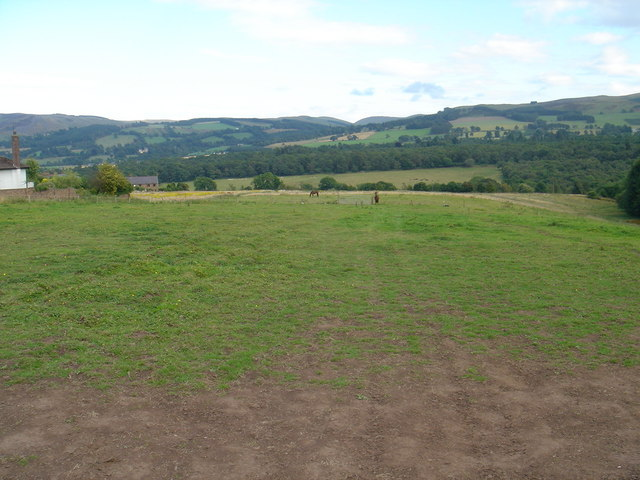View from Townhead Farm to the Ochil hills