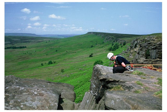 Norwich Climber on Stanage Edge
