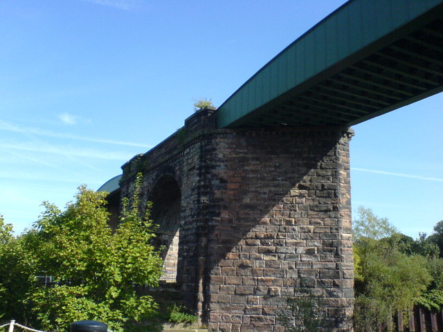 River Weaver Navigation, rail viaduct, by Hunts Lock , Northwich
