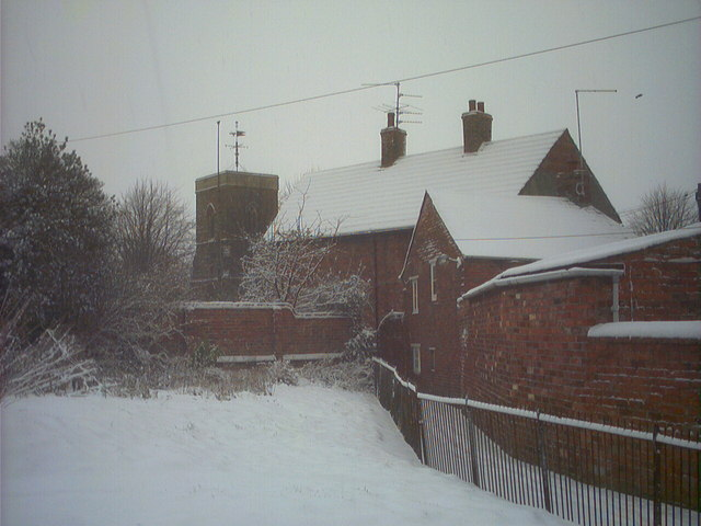 Rear of the House in snow.