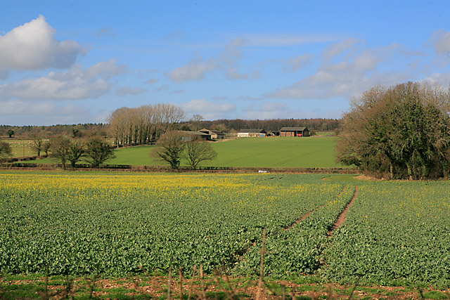 View from footpath on Wood Farm towards Marriners Farm
