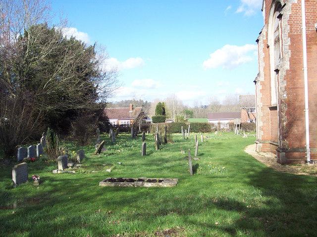 Churchyard at St Leonard's Church, Sherfield English