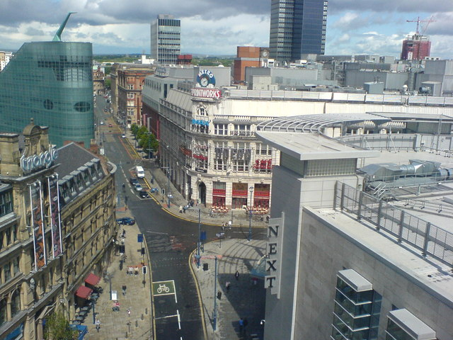 The printworks taken from Wheel of Manchester