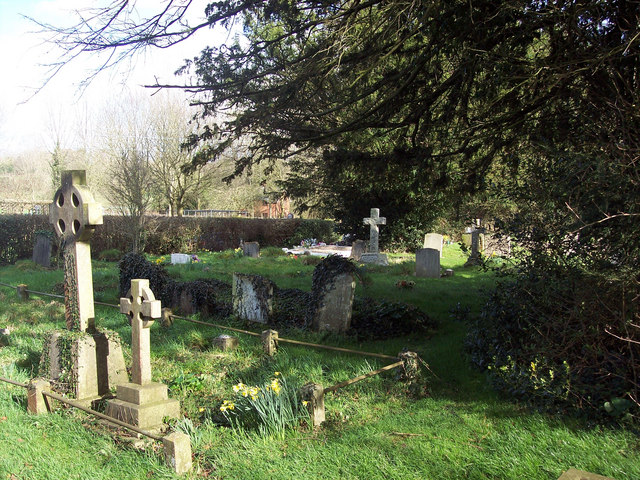 Churchyard at St Leonard's Church, Sherfield English