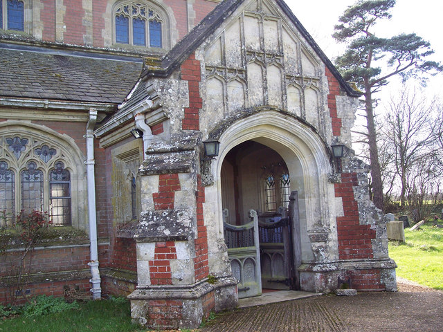 Porch of St Leonard's Church, Sherfield English