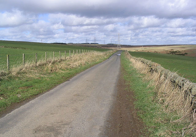 The road from Muircleugh Farm