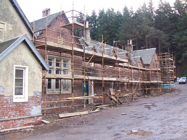 Renovation work at Bridgend Cottages
