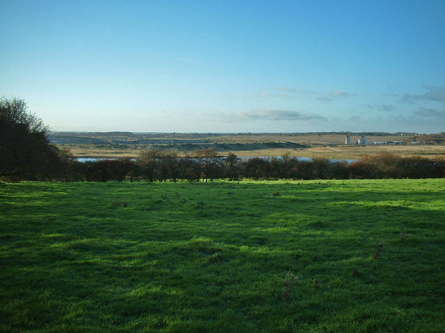 Looking over Donnington Island lake