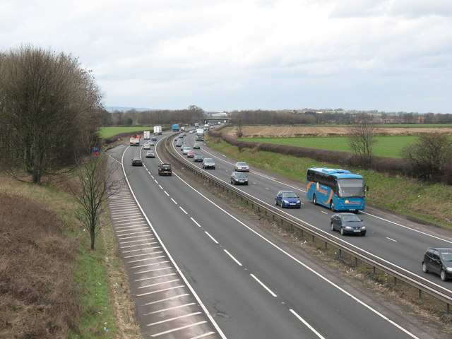 The A1 near Londonderry